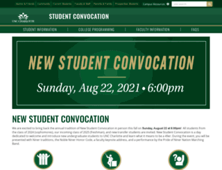 studentconvocation.uncc.edu screenshot