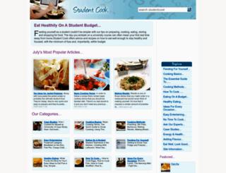 studentcook.co.uk screenshot