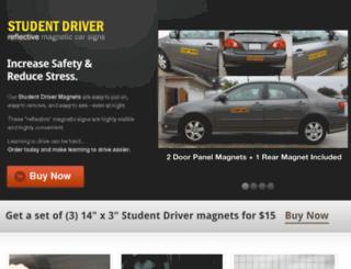 studentdrivermagneticsigns.com screenshot