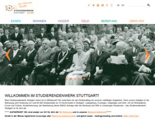 studentenwerk-stuttgart.de screenshot