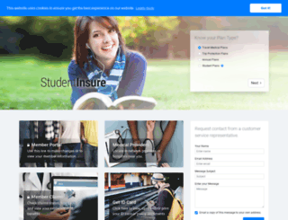 studentinsure.com screenshot