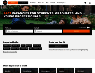 studentjob.co.uk screenshot