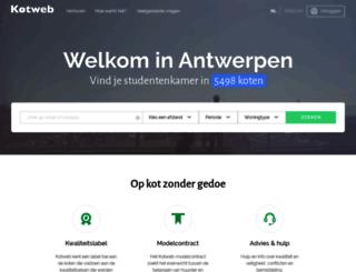studentkotweb.be screenshot