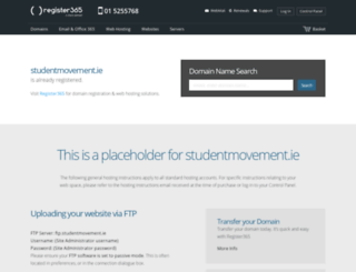 studentmovement.ie screenshot