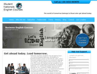studentnationals.org.uk screenshot