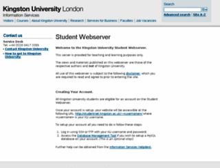 studentnet.kingston.ac.uk screenshot