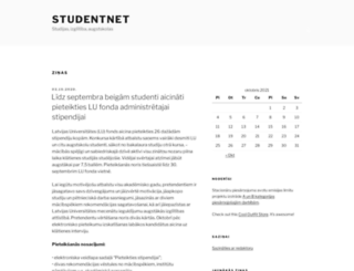 studentnet.lv screenshot