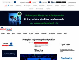 studentnews.pl screenshot
