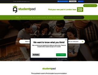 studentpad.co.uk screenshot