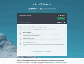 studentplace.ca screenshot