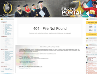 studentportal.unisza.edu.my screenshot