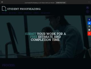 studentproofreading.co.uk screenshot