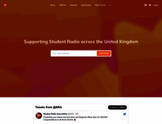 studentradio.org.uk screenshot