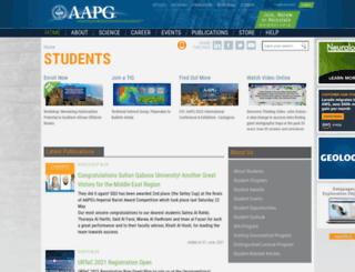 students.aapg.org screenshot