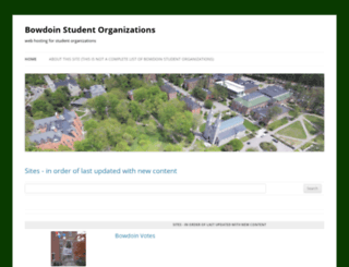 students.bowdoin.edu screenshot
