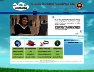 students.icai.org screenshot