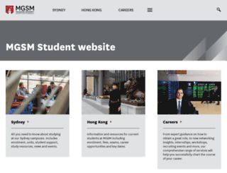 students.mgsm.edu.au screenshot