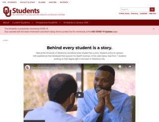 students.ouhsc.edu screenshot
