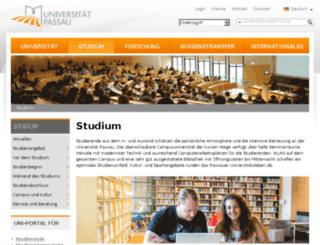 students.uni-passau.de screenshot