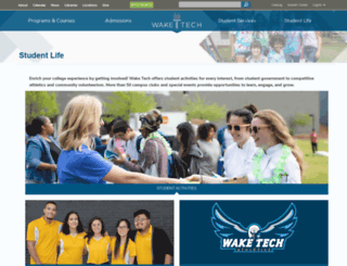 students.waketech.edu screenshot