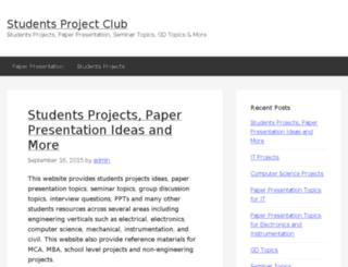 studentsprojectclub.com screenshot