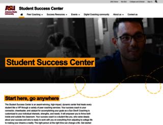 studentsuccess.asu.edu screenshot