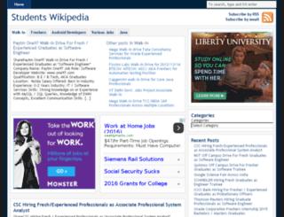 studentswikipedia.in screenshot