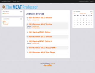 studenttools.themcatprofessor.com screenshot