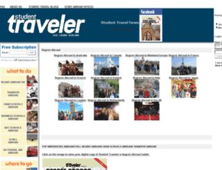 studenttraveler.com screenshot