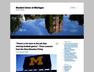 studentunionofmichigan.wordpress.com screenshot