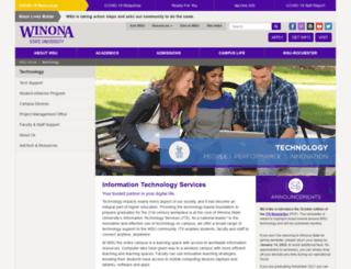 studentwebs.winona.edu screenshot