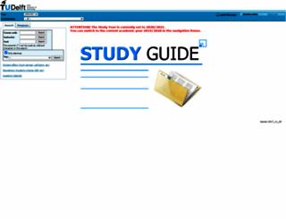 studiegids.tudelft.nl screenshot