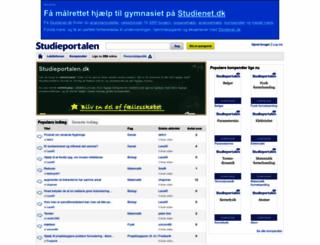 studieportalen.dk screenshot