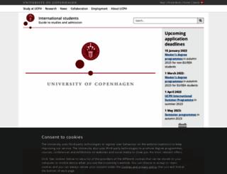studies.ku.dk screenshot