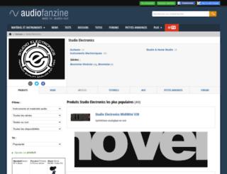 studio-electronics.audiofanzine.com screenshot
