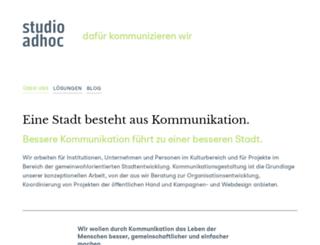 studioadhoc.de screenshot