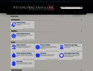 studioarcanis.com screenshot