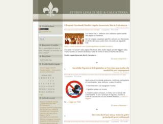 studiolegalemeiecalcaterra.wordpress.com screenshot