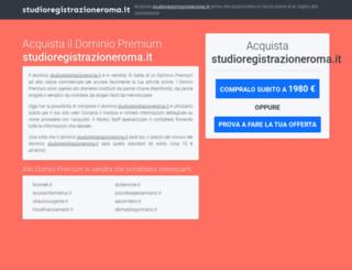studioregistrazioneroma.it screenshot