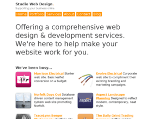 studiowebdesign.co.uk screenshot
