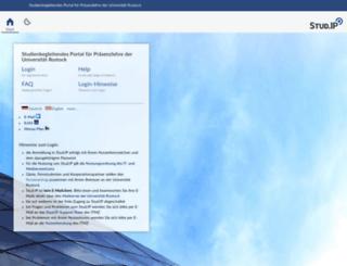 studip.uni-rostock.de screenshot
