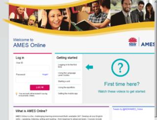 study.ames.edu.au screenshot