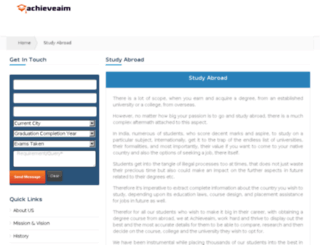 studyabroad.achieveaim.com screenshot