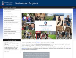 studyabroad.columbusstate.edu screenshot