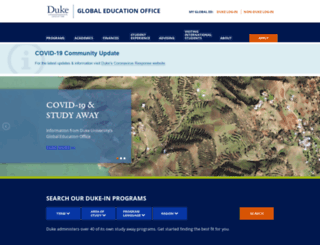 studyabroad.duke.edu screenshot