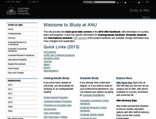 studyat.anu.edu.au screenshot