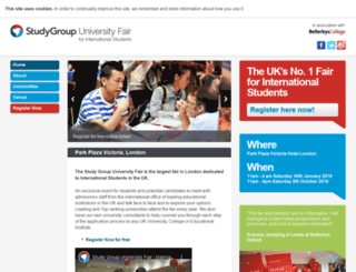 studygroupfairs.com screenshot