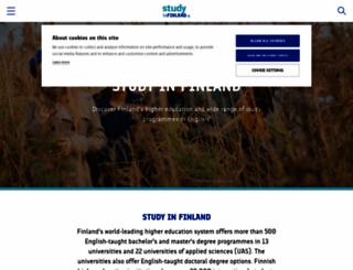 studyinfinland.fi screenshot