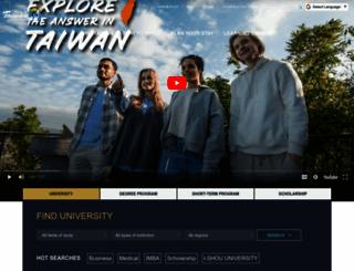 studyintaiwan.org screenshot