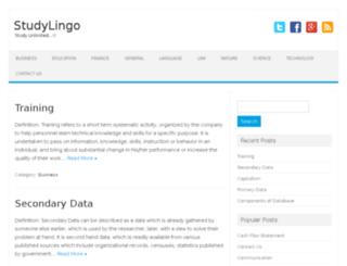 studylingo.com screenshot